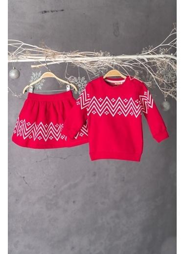 Zeyland Baskılı Sweatshirt ve Etek Takım (6ay-4yaş) Baskılı Sweatshirt ve Etek Takım (6ay-4yaş) Fuşya